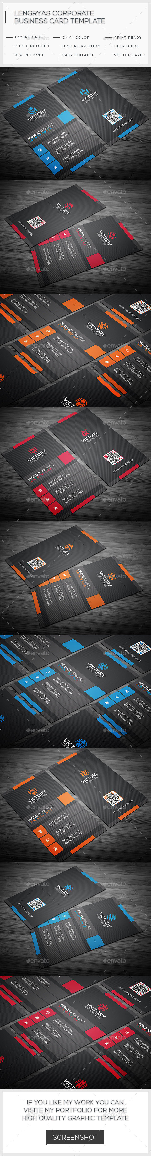 Lengryas Creative Business Card - Corporate Business Cards