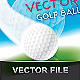 REALISTIC 100% SCALABLE GOLF BALL VECTOR - GraphicRiver Item for Sale