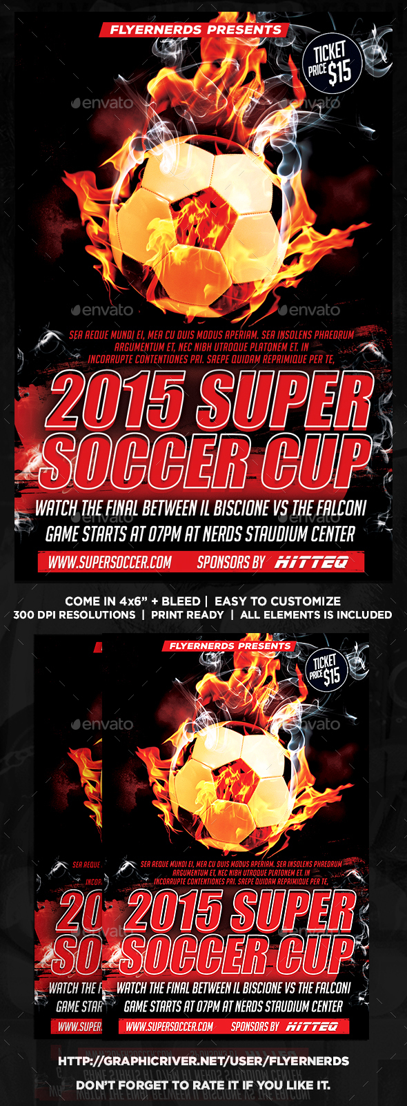 2015 Super Soccer Cup Sports Flyer  - Sports Events