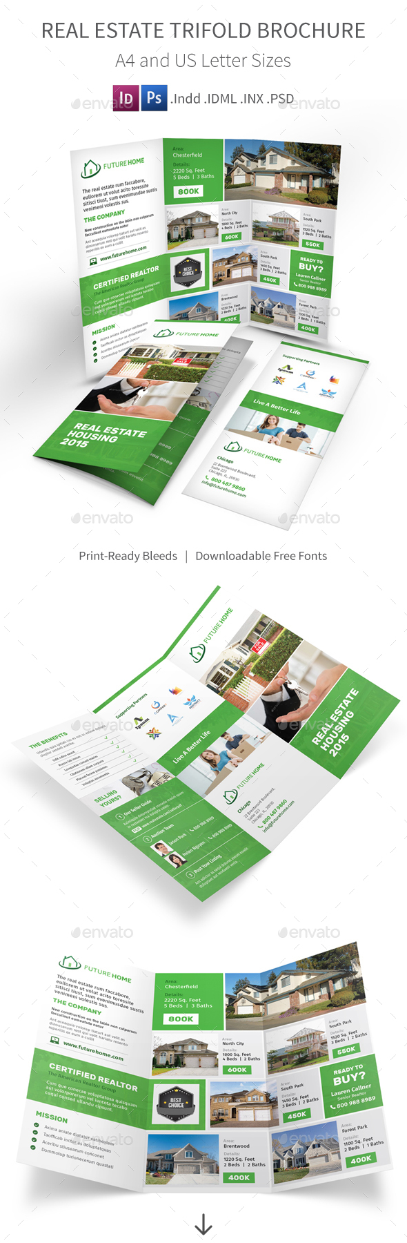 Real Estate Trifold Brochure 3 - Corporate Brochures