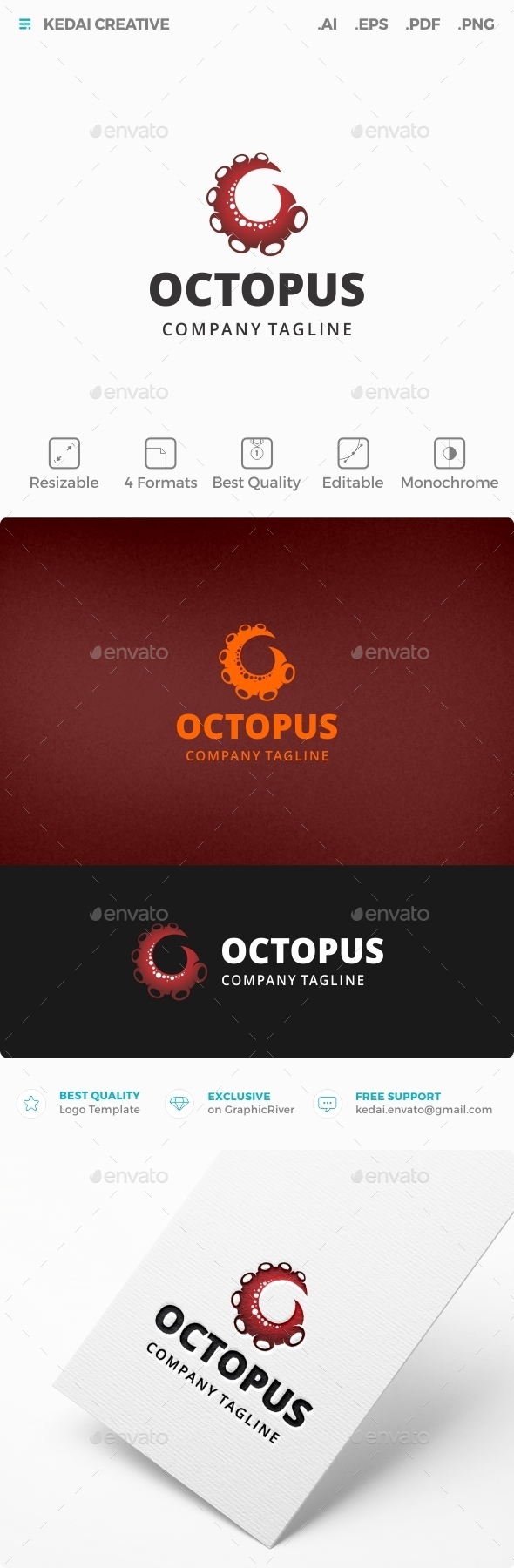 Octopus - Animals Logo Templates