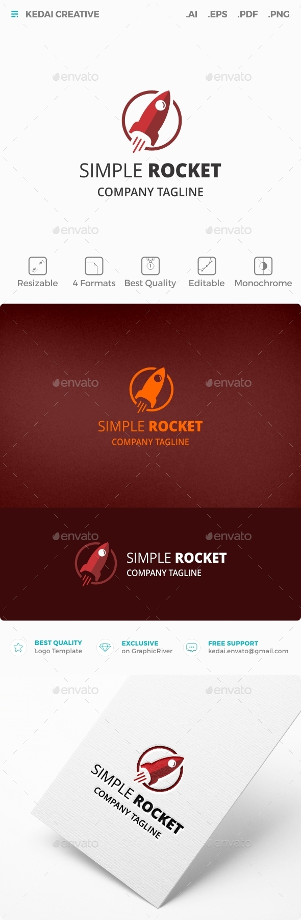 Simple Rocket - Objects Logo Templates
