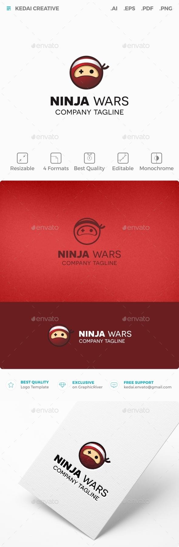 Ninja Wars - Symbols Logo Templates