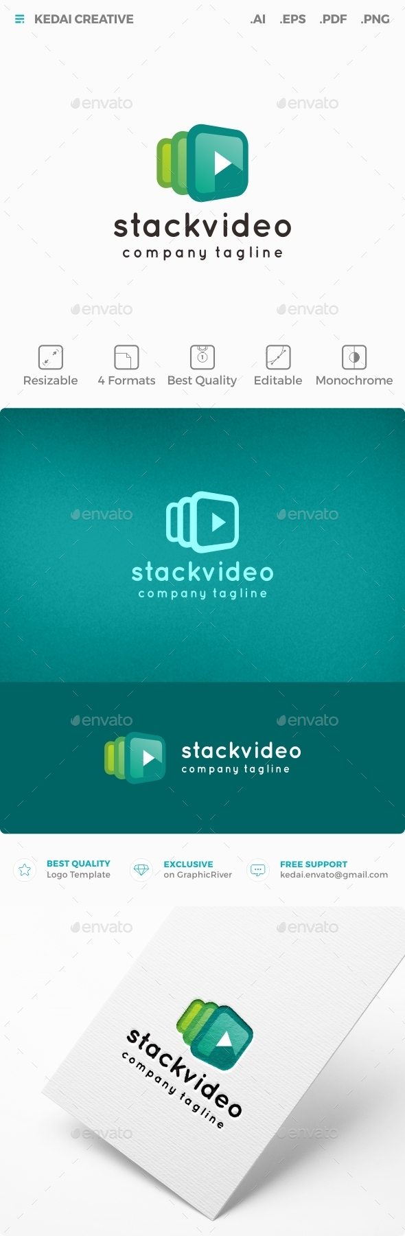 Stack Video - Symbols Logo Templates