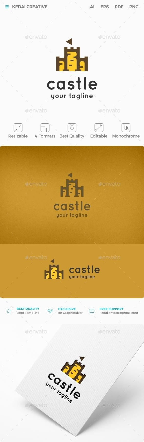 Castle - Buildings Logo Templates