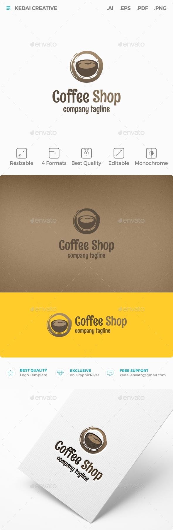 Coffee Shop - Food Logo Templates