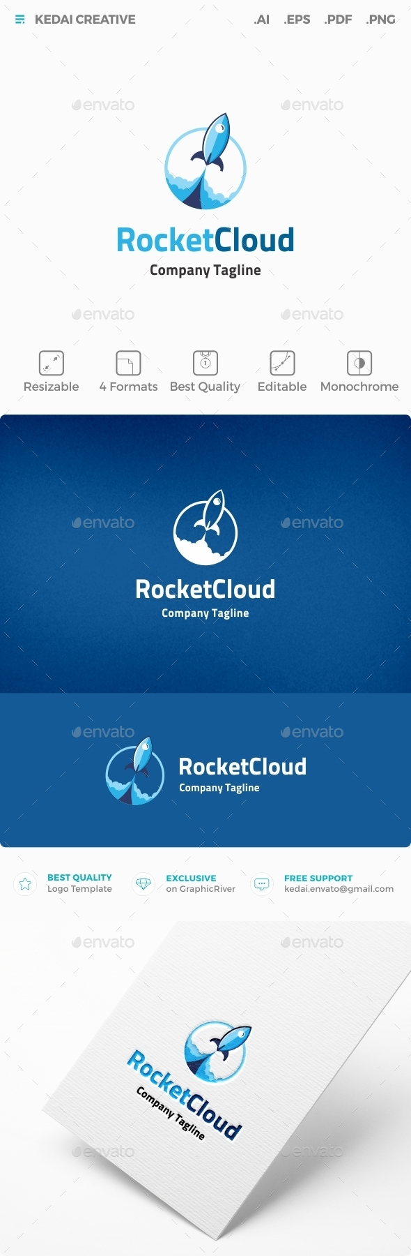 Rocket Cloud - Objects Logo Templates
