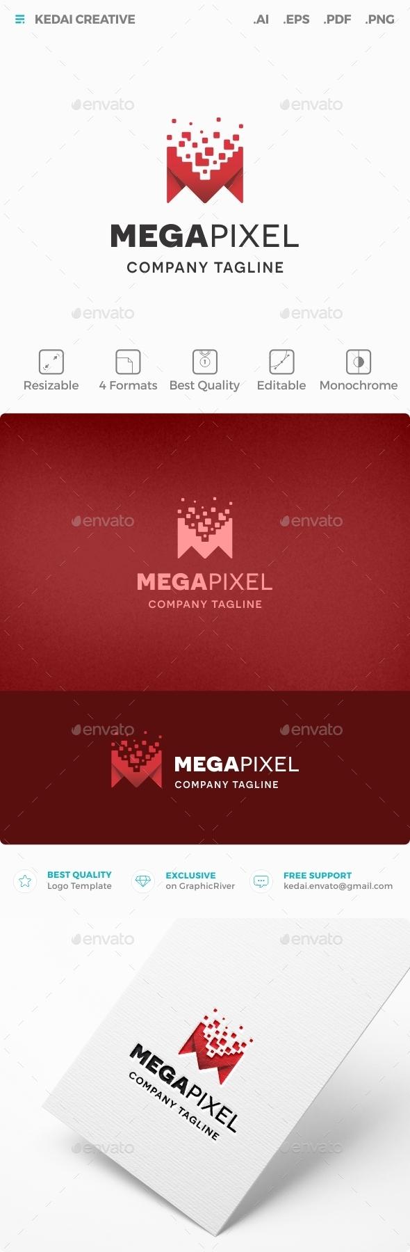 Mega Pixel - Letters Logo Templates