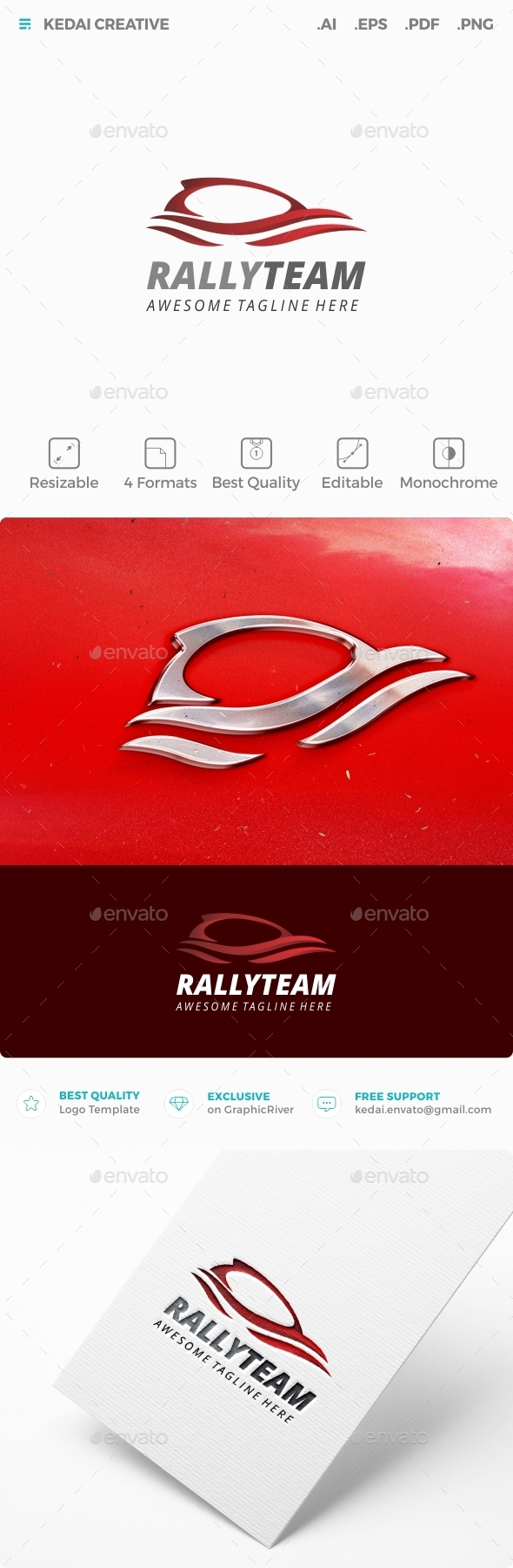 Rally Team - Objects Logo Templates
