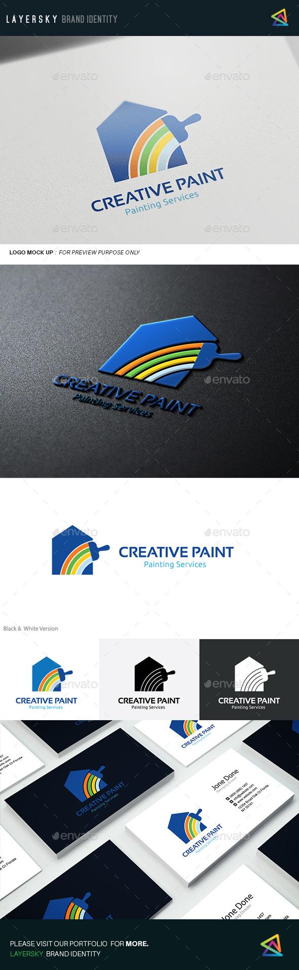 Creative Paint  - Buildings Logo Templates