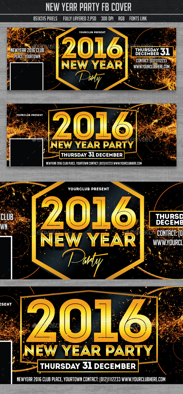 New Year Party Timeline Covers, - Facebook Timeline Covers Social Media