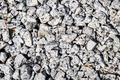 Closed up on small gravel stones used as construction material
