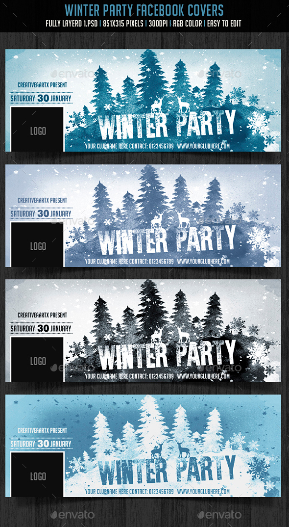 Winter Party FB Cover - Facebook Timeline Covers Social Media