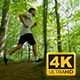 Young Man In Sportswear Running Through Trees - VideoHive Item for Sale