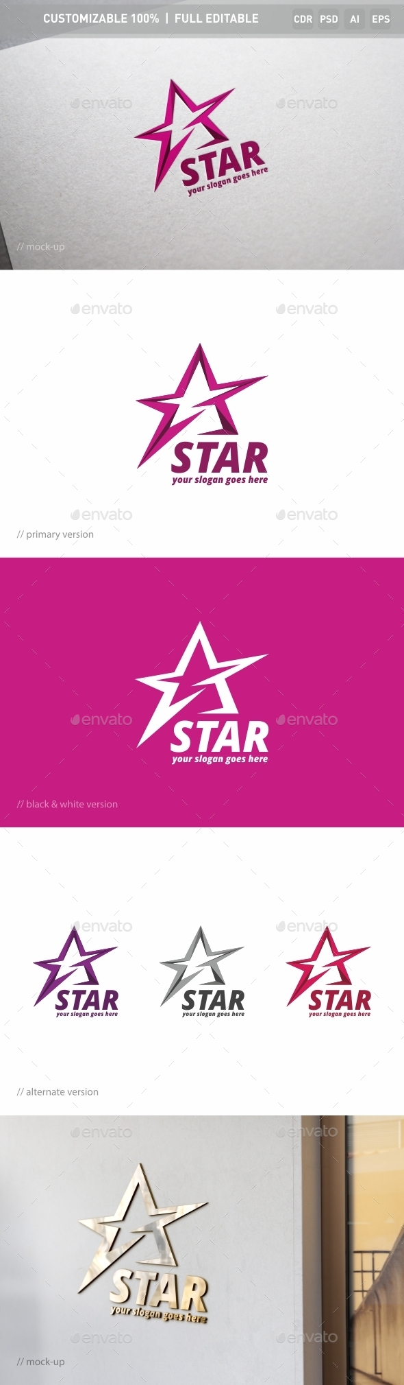Star Logo Template - Objects Logo Templates