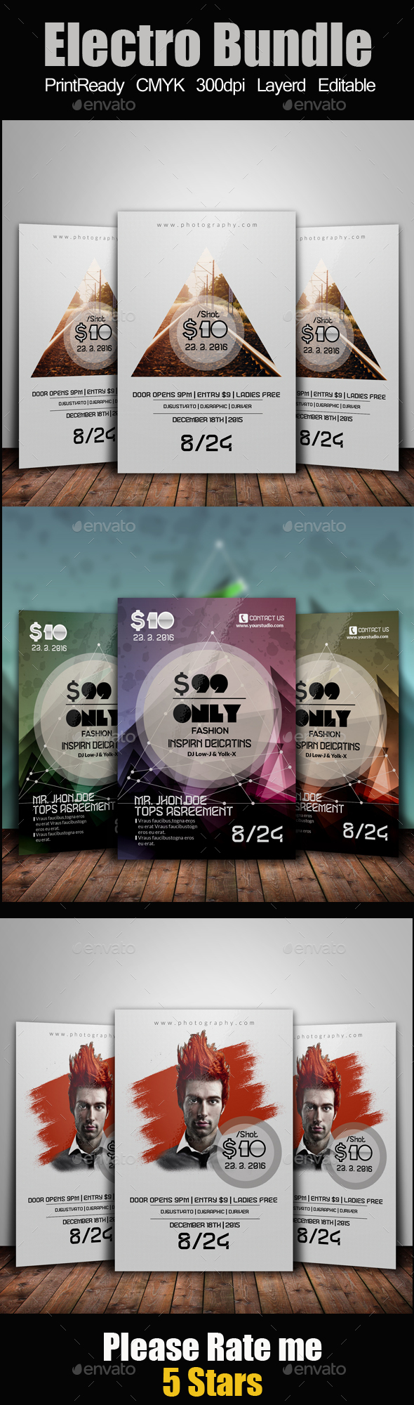 Electro Flyer Template Bundle - Clubs & Parties Events