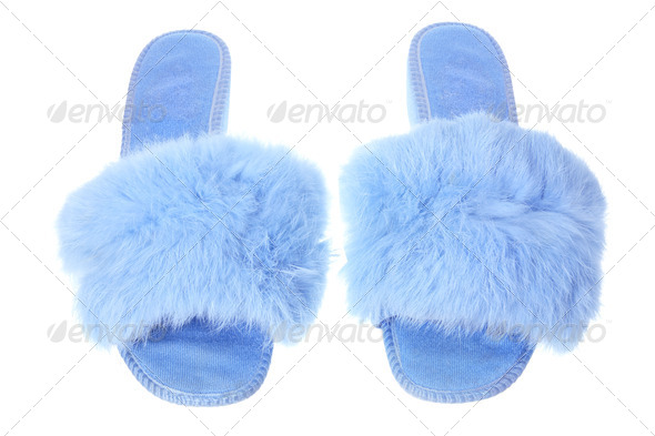Lady's Bedroom Slippers - Stock Photo - Images