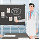 Cartoon Clinic / Man Doctor At The Meeting - VideoHive Item for Sale