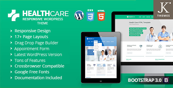 Health Care  Responsive WordPress Theme