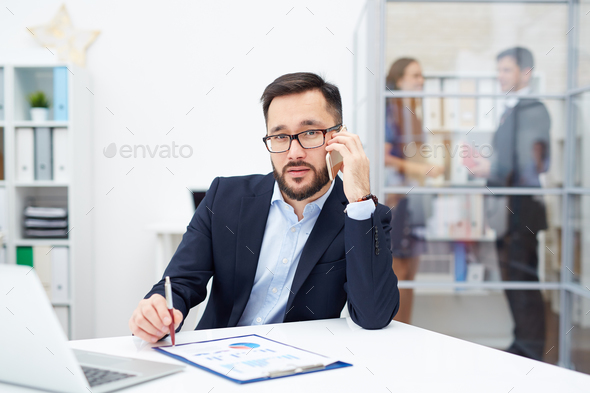 Busy boss - Stock Photo - Images
