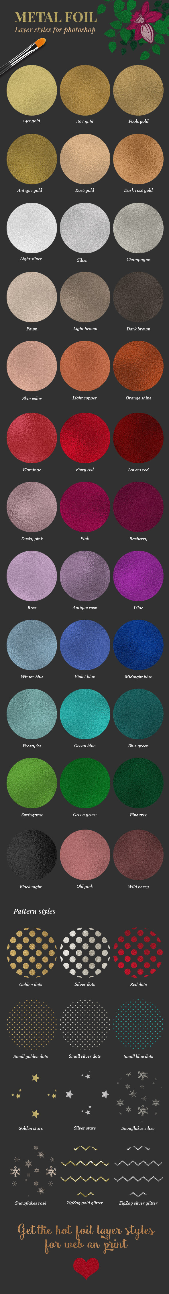 Metal Foil Layer Styles - Miscellaneous Styles