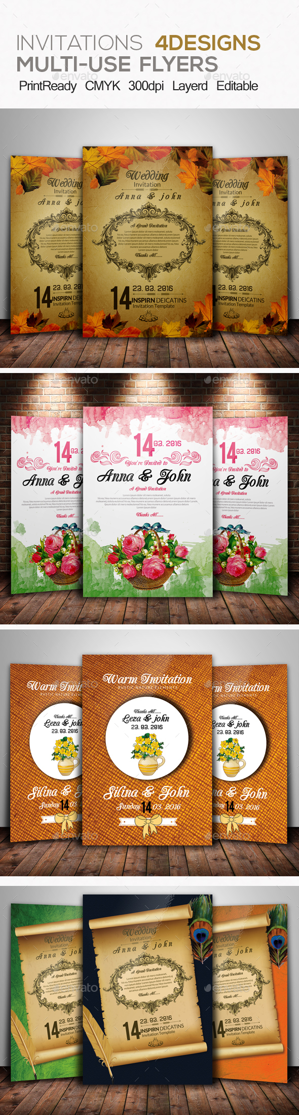 Wedding Invitation & RSVP Bundle - Weddings Cards & Invites
