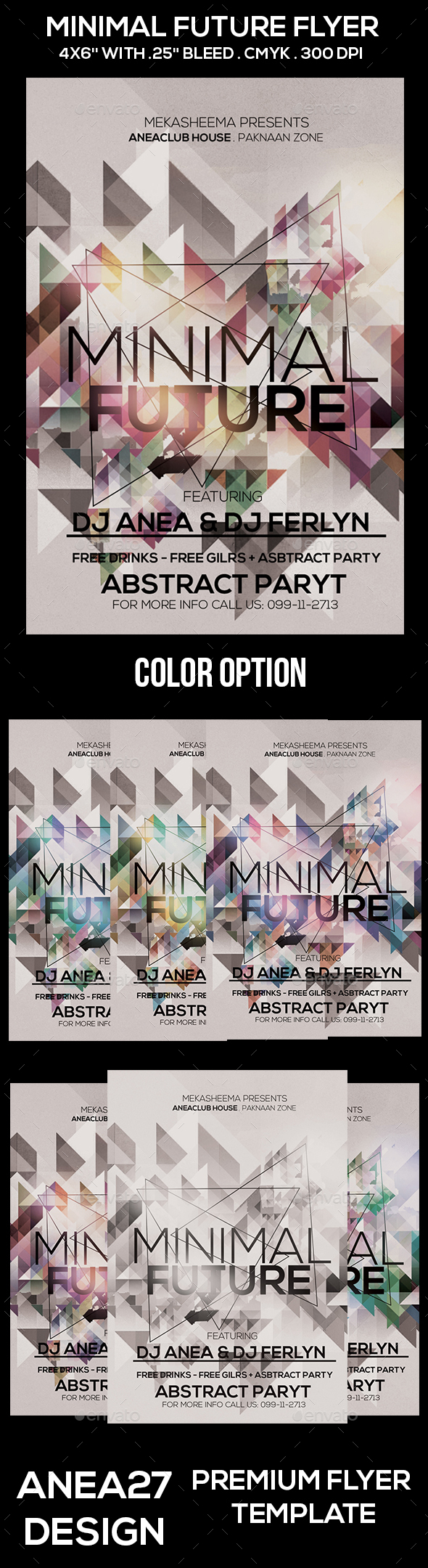 Minimal Future Flyer - Clubs & Parties Events