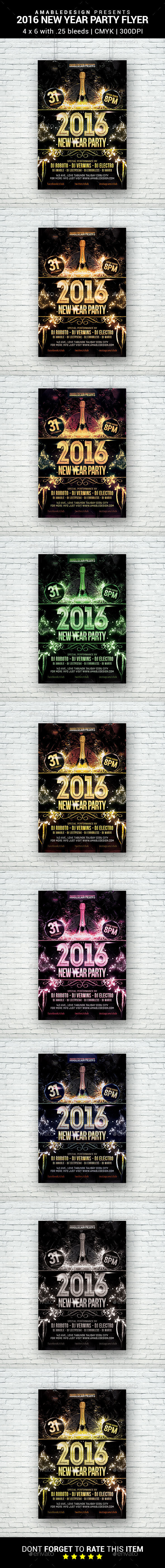 2016/2017 New Year Party Flyer - Clubs & Parties Events