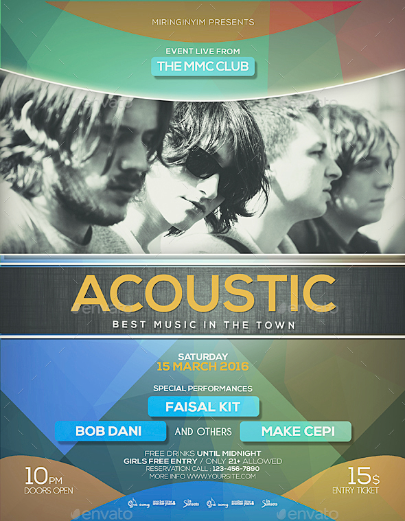 Live Acoustic Flyer / Poster