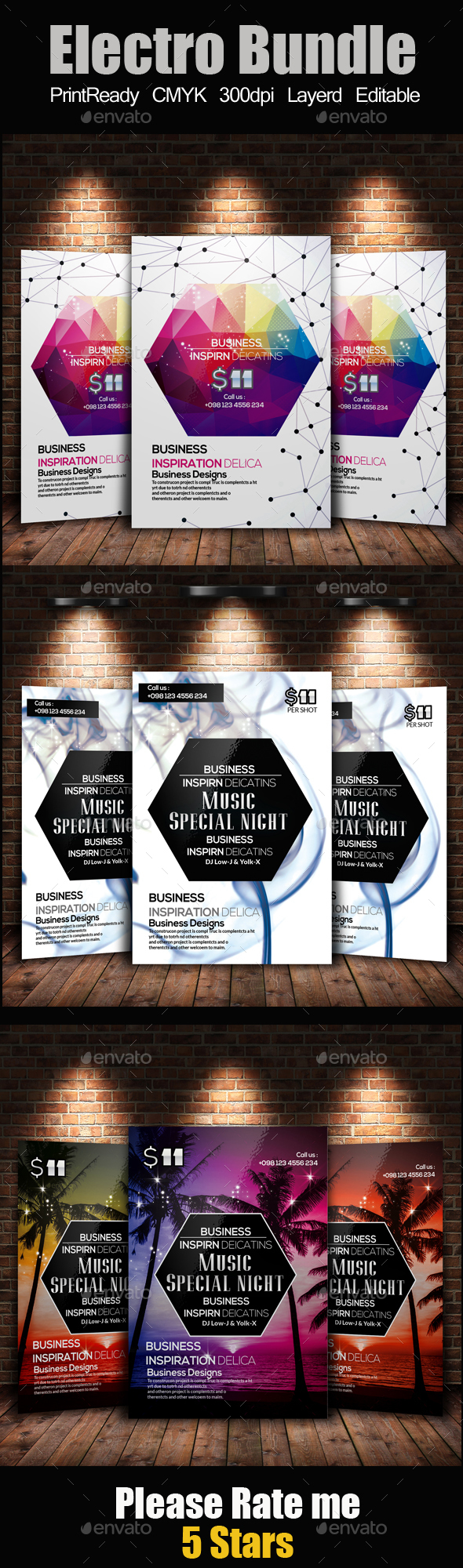 Creative Abstract Flyer Bundle - Clubs & Parties Events