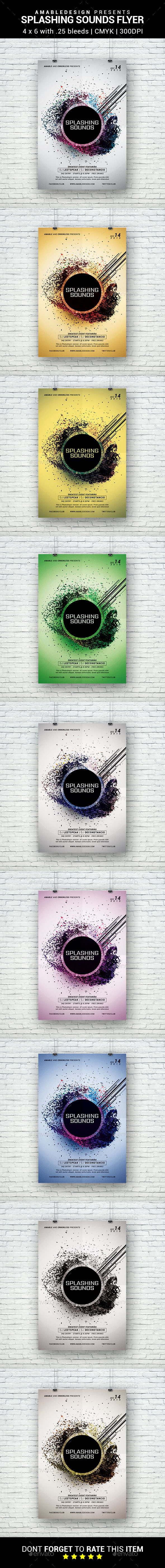 Splashing Sounds Flyer - Clubs & Parties Events