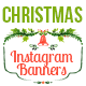 Instagram Christmas Banners - GraphicRiver Item for Sale