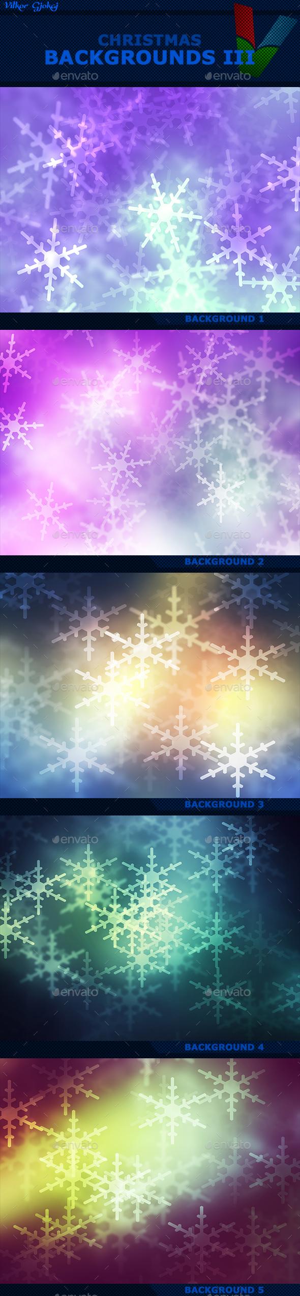 Christmas Backgrounds III - Abstract Backgrounds