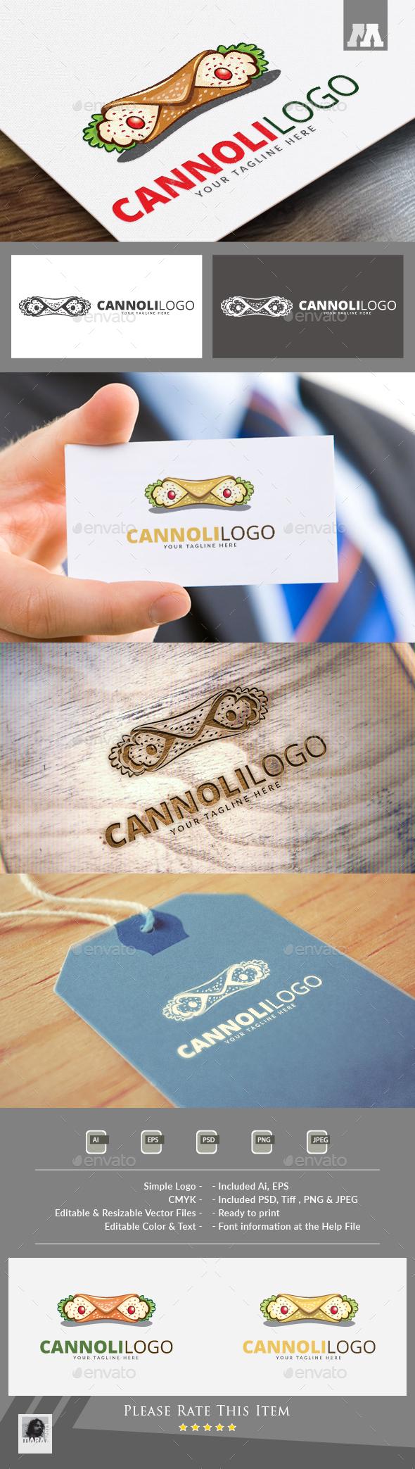 Cannoli  Logo - Food Logo Templates