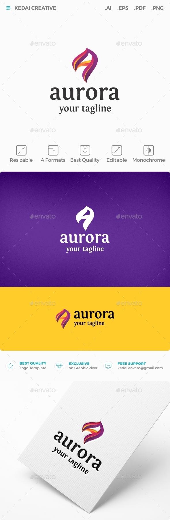 Aurora - Letters Logo Templates