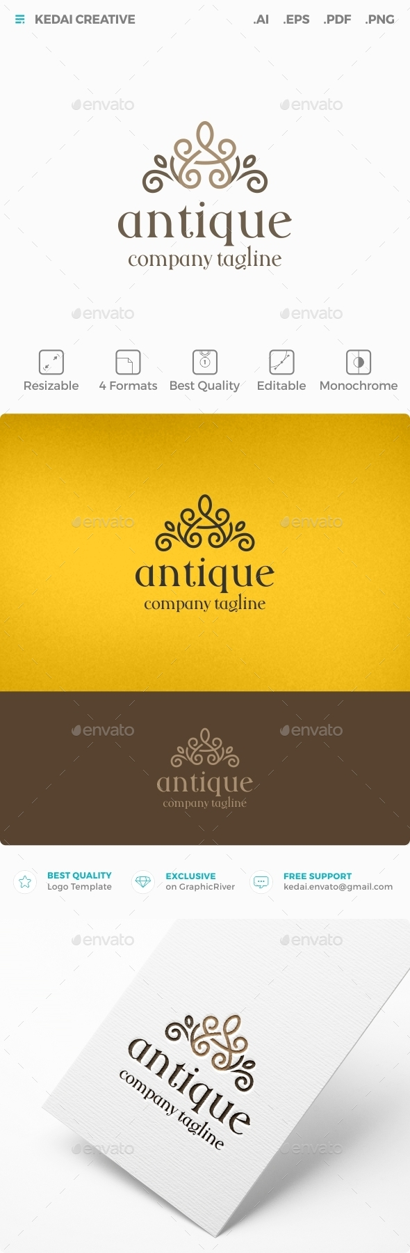 Antique - Crests Logo Templates