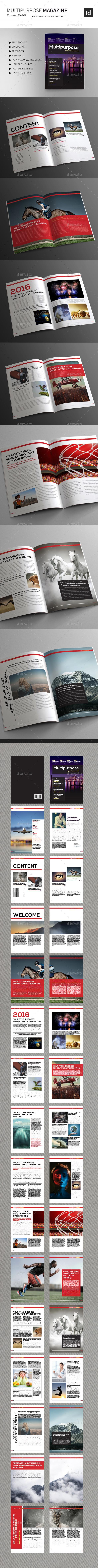 Multipurpose Magazine InDesign Template - Magazines Print Templates