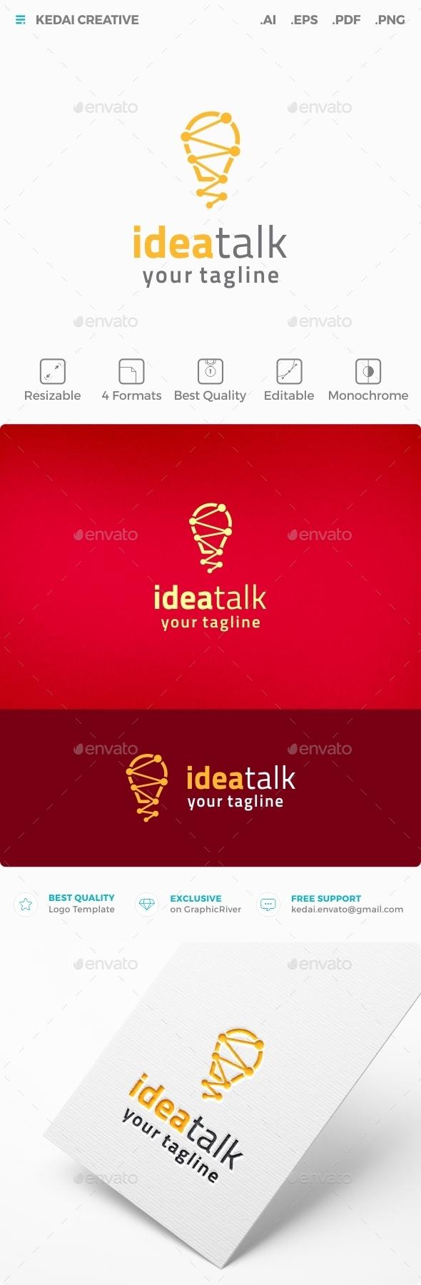 Idea Talk - Symbols Logo Templates