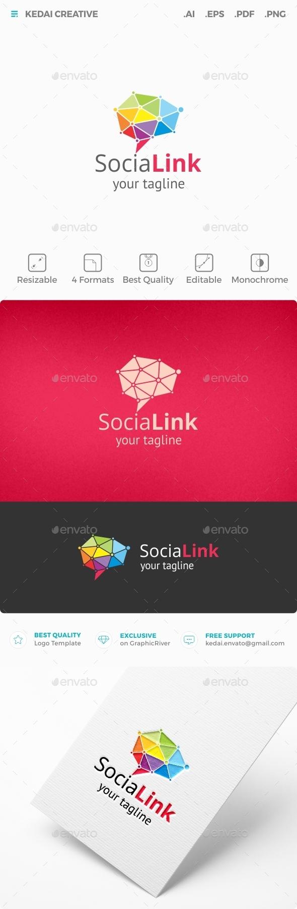 Social Link - Symbols Logo Templates