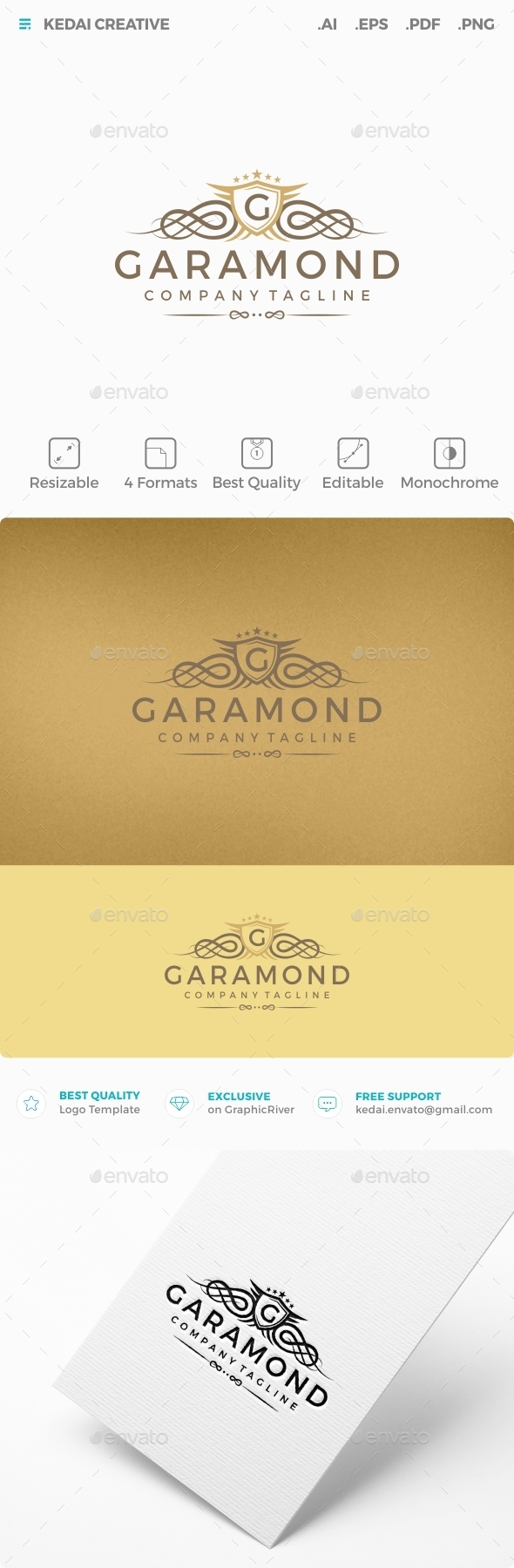 Garamond - Crests Logo Templates