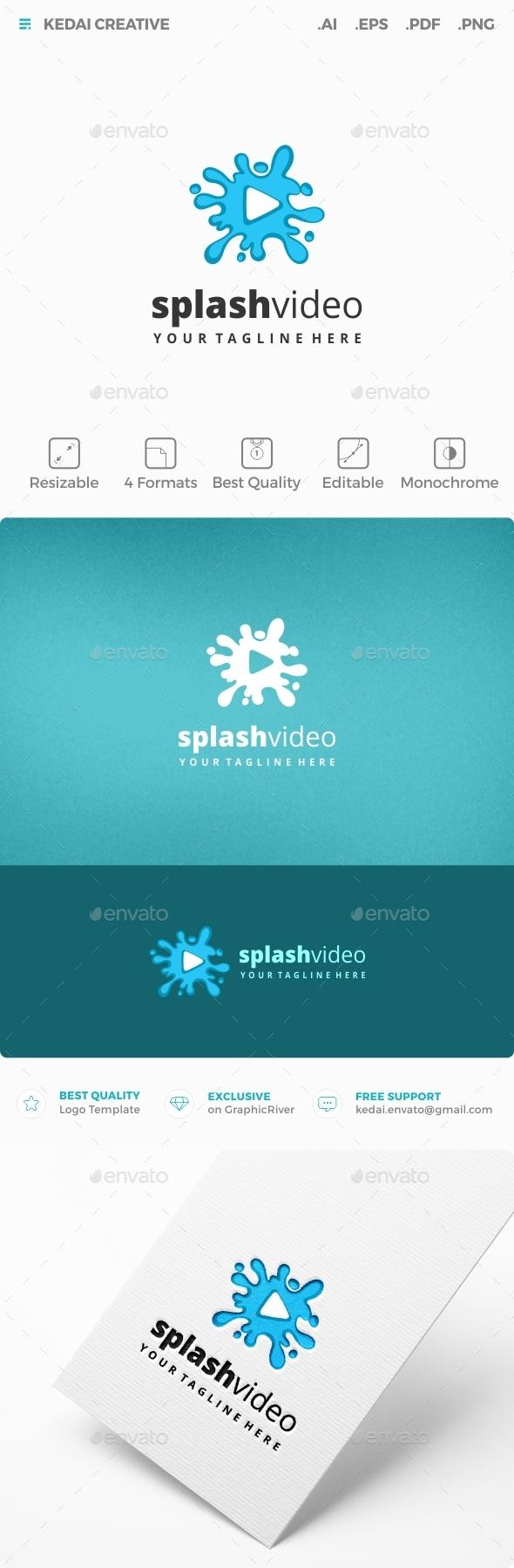 Splash Video - Vector Abstract