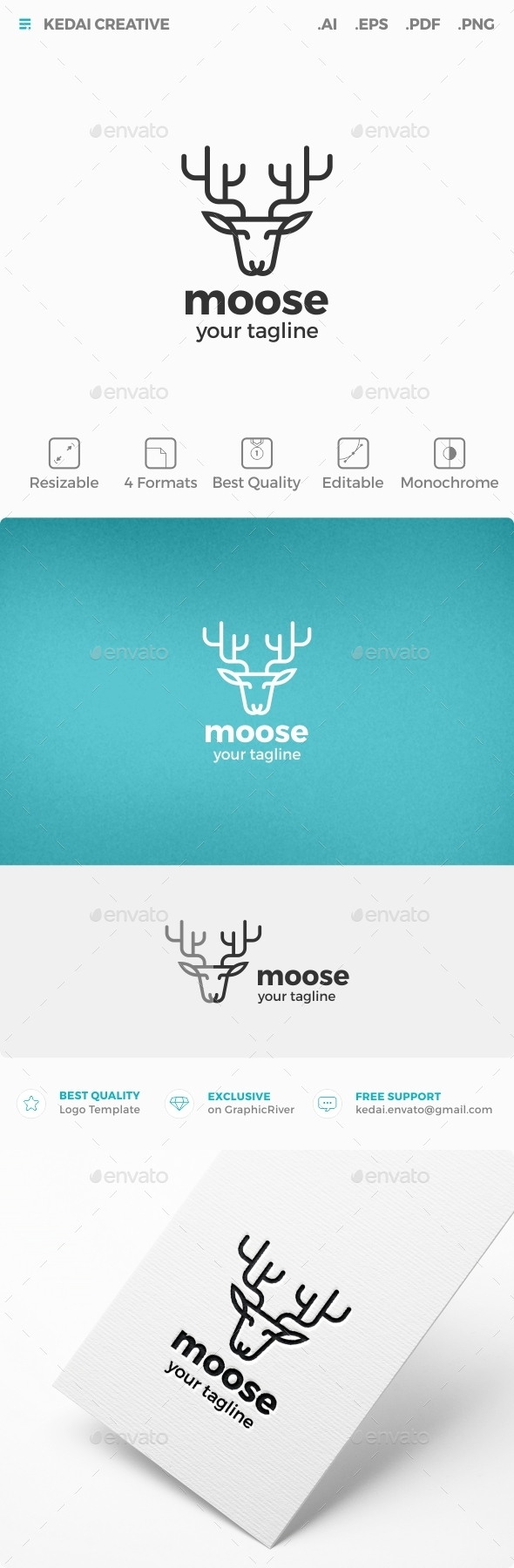 Moose - Nature Logo Templates