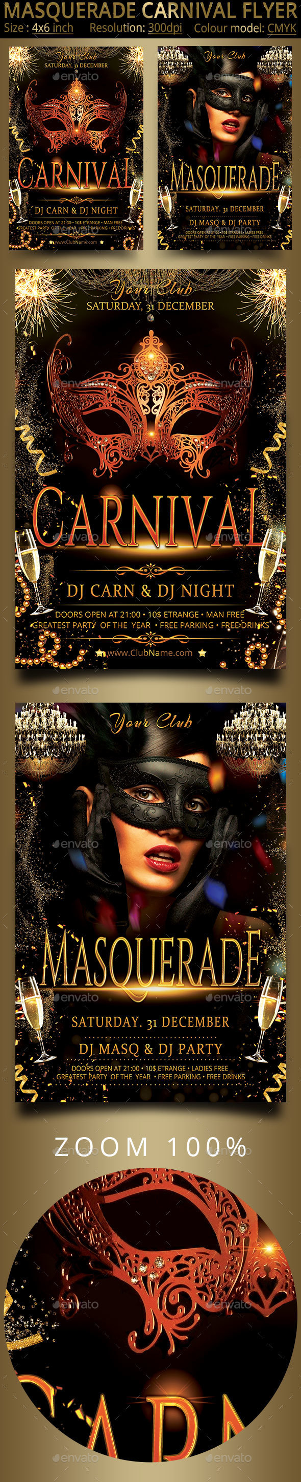 Carnival Masquerade Party Flyer - Events Flyers