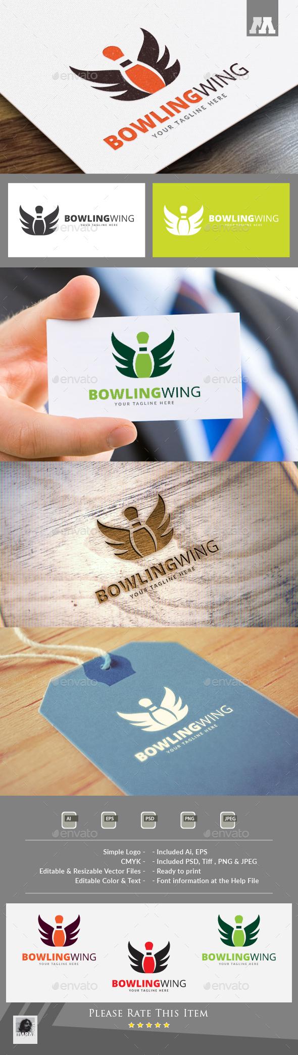 Bowling Wing Logo - Symbols Logo Templates