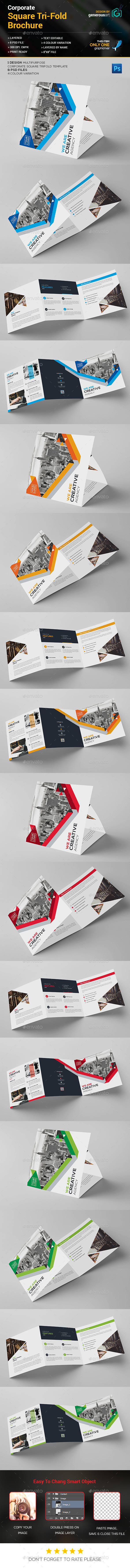 Square Tri-Fold Brochure – Corporate - Corporate Brochures