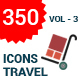 350 Travel Icons - GraphicRiver Item for Sale