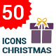 50 Christmas Flat gift icon set - GraphicRiver Item for Sale
