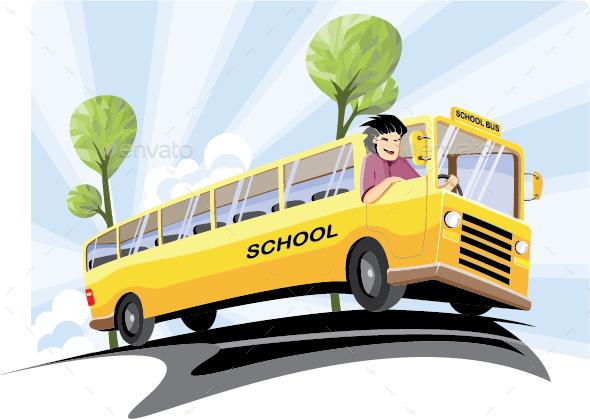 School Bus - People Characters