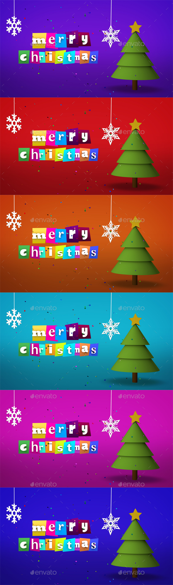 Merry Christmas - 3D Backgrounds