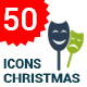 50 Christmas Flat Icons - GraphicRiver Item for Sale